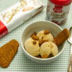 Biscoff ice Cream made with Biscoff spread