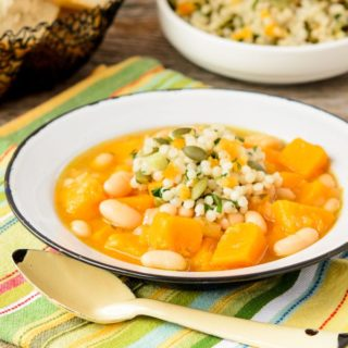 Butternut Squash White Bean Soup for #SundaySupper