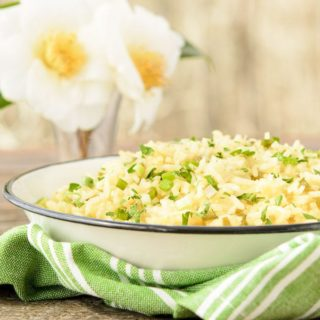 Spring Green Rice for #SundaySupper