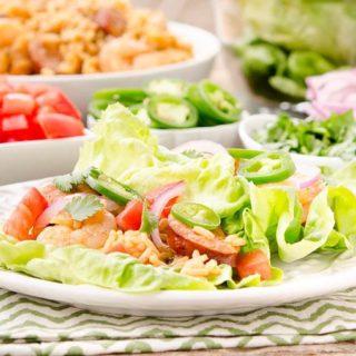 Jambalaya Lettuce Wraps for #SundaySupper