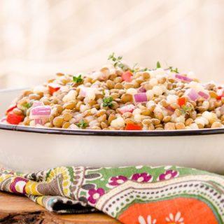 Lemony Couscous Lentil Salad for #SundaySupper