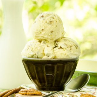 Cinnamon Butter Pecan Ice Cream for #makeitwithMILK #FWCon