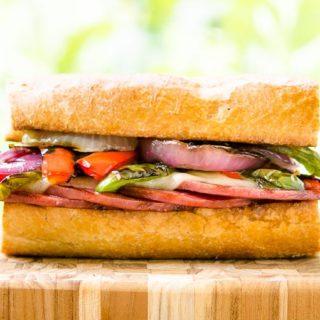 Grilled Salami Sandwich for #SundaySupper