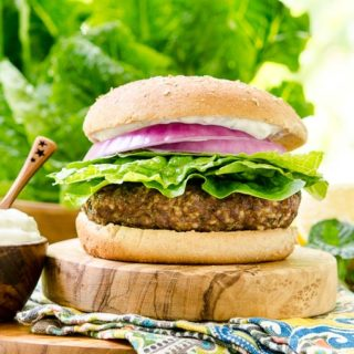 Turkish Beef Burger for #BurgerMonth