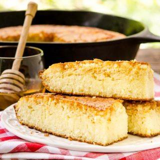 Honey Cornbread for #BreadBakers