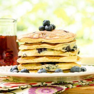 Blueberry Masa Harina Pancakes for #SundaySupper