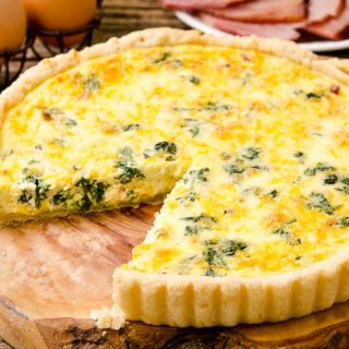 Ham and Cheese Quiche with Spinach