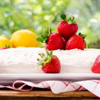Strawberry-Lemon Cake for #WeekdaySupper