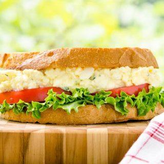 Tarragon Goat Cheese Egg Salad Sandwich